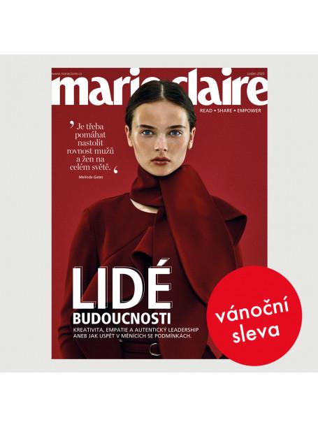 Vánoční roční tištěné předplatné Marie Claire